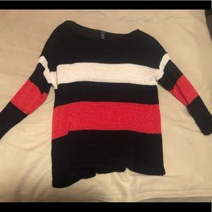 Red white and blue sweater